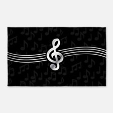 Stylish clef on musical note background 3'x5' Area