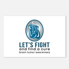 Lets Fight Brain Tumors Postcards (Package Of 8) P