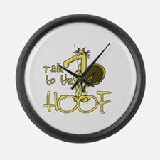 Talk to the Hoof Large Wall Clock