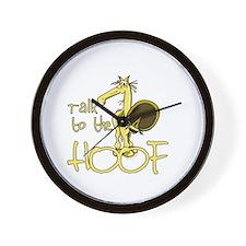 Talk to the Hoof Wall Clock