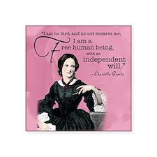 """Charlotte Bronte Square Sticker 3"""" X 3"""""""