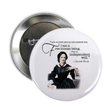 """Charlotte Bronte 2.25&Quot; 2.25"""" Button"""