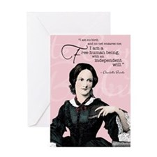 Charlotte Bronte Greeting Card