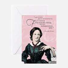 Charlotte Bronte Greeting Card