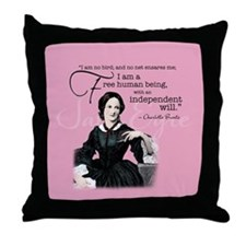 Charlotte Bronte Throw Pillow