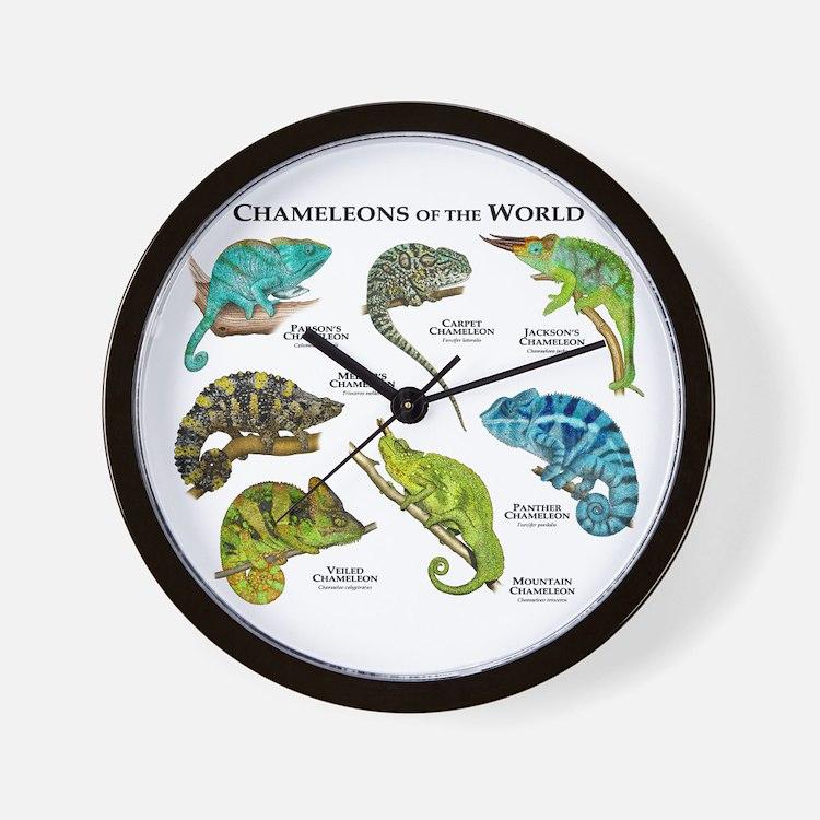 Chameleons of the World Wall Clock