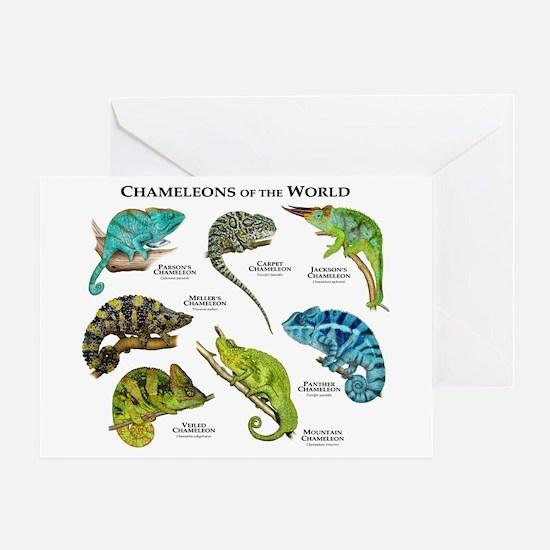 Chameleons of the World Greeting Card