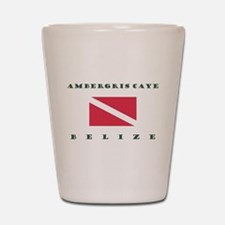 Ambergris Caye Belize Dive Shot Glass