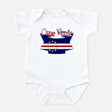 Cape Verde flag ribbon Infant Bodysuit