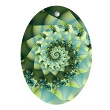 Muted Oval Ornament