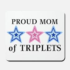 Mom of Triplets (Boys, Girl) Stars Mousepad