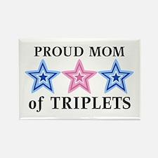 Mom of Triplets (Boys, Girl) Stars Rectangle Magne