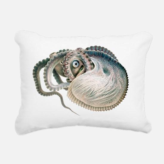 Vintage Octopus Rectangular Canvas Pillow