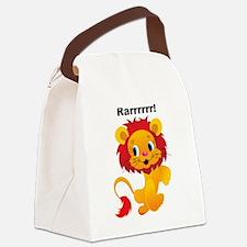 Rarrrr Leo lion Canvas Lunch Bag