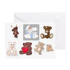 Teddy Bears All Over Greeting Card