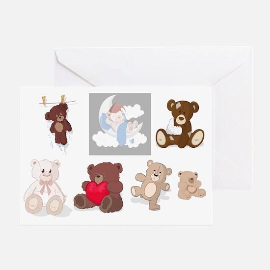 Teddy Bears All Over Greeting Card