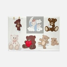 Teddy Bears All Over Rectangle Magnet