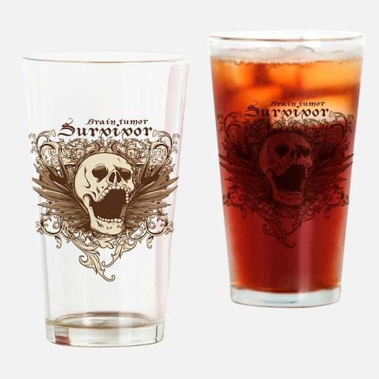 Brain Tumor Survivor Drinking Glass