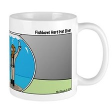 Fishbowl Hard Hat Diver Mug