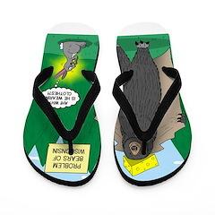 Problem Bears of Wisconsin Flip Flops