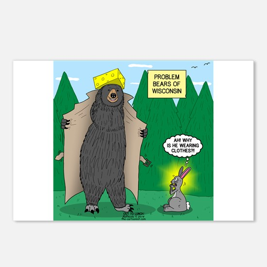 Problem Bears of Wisconsi Postcards (Package of 8)