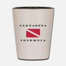 Cartagena Colombia Dive Shot Glass