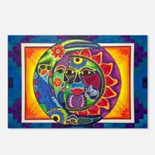 Aztec Sun and Moon Postcards (Package of 8)