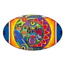 Aztec Sun and Moon Decal