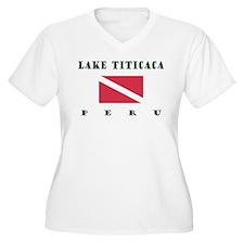 Lake Titicaca Peru Dive Plus Size T-Shirt
