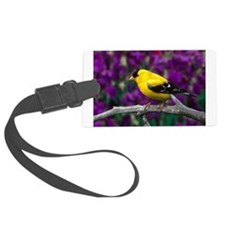 American Goldfinch Bird Black and Yellow Luggage T