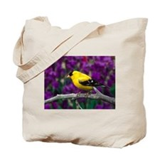 American Goldfinch Bird Black and Yellow Tote Bag