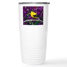 American Goldfinch Bird Black and Yellow Travel Mu