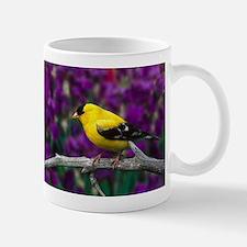 American Goldfinch Bird Black and Yellow Mugs