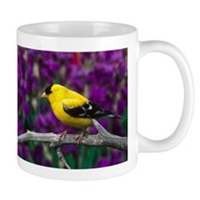 American Goldfinch Bird Black and Yellow Mugs