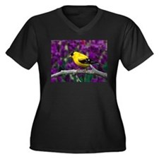 American Goldfinch Bird Black and Yellow Plus Size