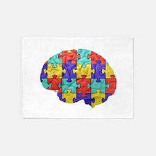 Autistic Brain 5'x7'Area Rug
