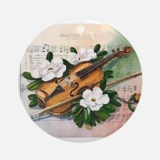 Amazing Grace and Music Ornament (Round)