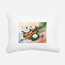 Amazing Grace and Music Rectangular Canvas Pillow