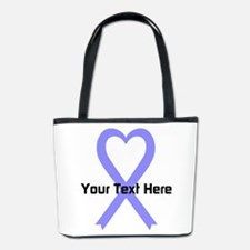 Personalized Periwinkle Ribbon Heart Bucket Bag