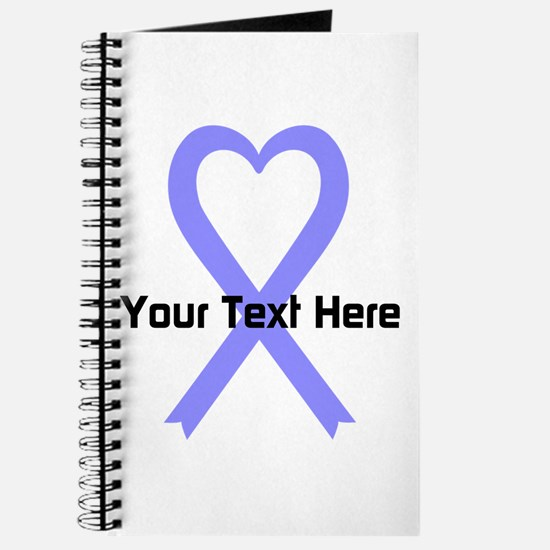 Personalized Periwinkle Ribbon Heart Journal