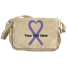 Personalized Periwinkle Ribbon Heart Messenger Bag