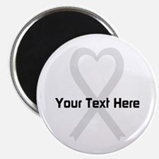 "Personalized Pearl Ribbon H 2.25"" Magnet (10 pack)"