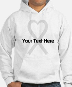 Personalized Pearl Ribbon Heart Hoodie