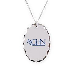 Blue Logo Necklace