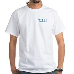 Blue Logo White T-Shirt