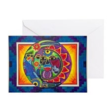 Aztec Sun And Moon Greeting Card