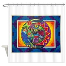 Aztec Sun and Moon Shower Curtain