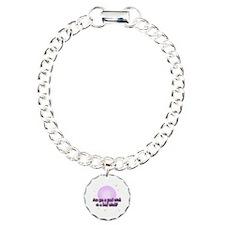 Pink Bubble Charm Bracelet, One Charm