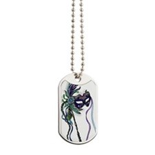 Decorative Mardi Gras Mask Dog Tags