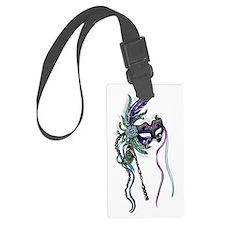 Decorative Mardi Gras Mask Luggage Tag